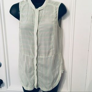 Fossil XS Button Down Tank Top